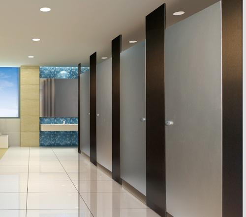 jy-l002商场,写字楼通用铝板拉丝卫生间隔断图片