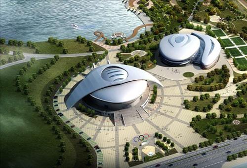 安庆体育中心(在建)-精益隔断很专业,我们很满意